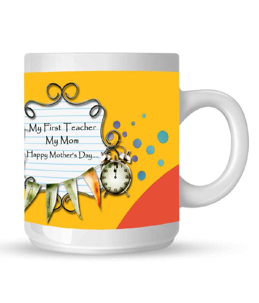 Huppme Mother's Day Multicolour Ceramic Mug