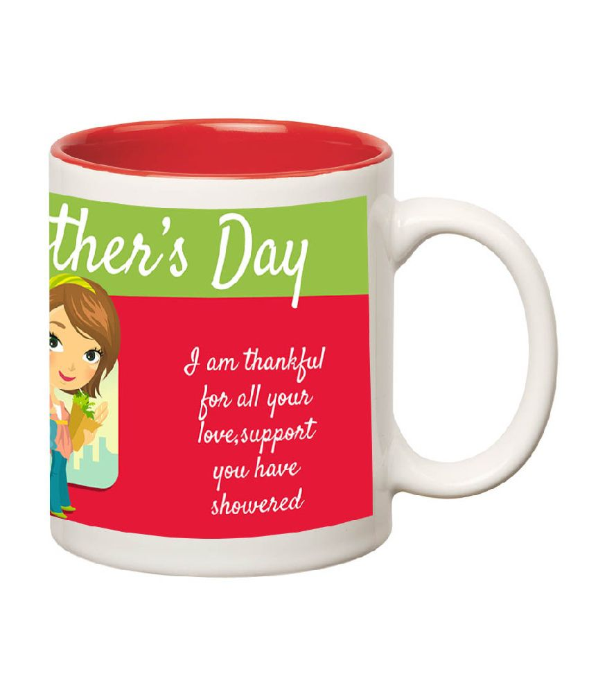 Huppme Mother's Day Red Ceramic Mug