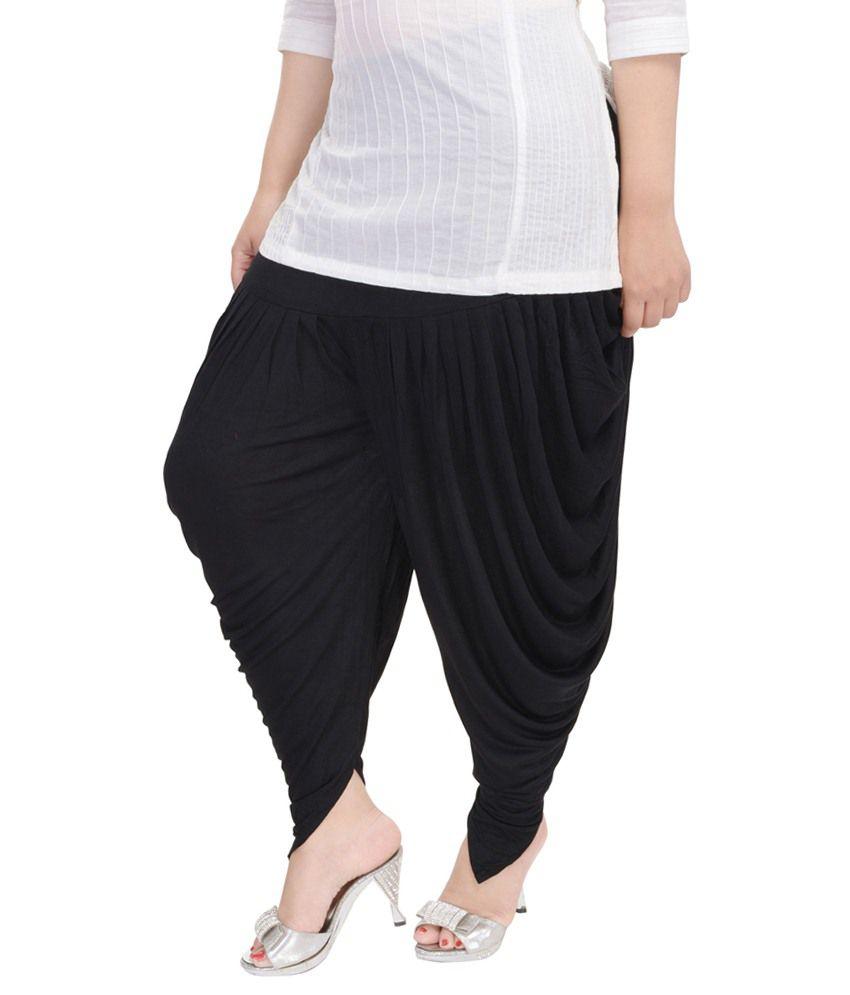 c18d93d6bf58 Rajasthani Sarees Black Cotton Lycra Dhoti Pants Rajasthani Sarees Black  Cotton Lycra Dhoti Pants ...
