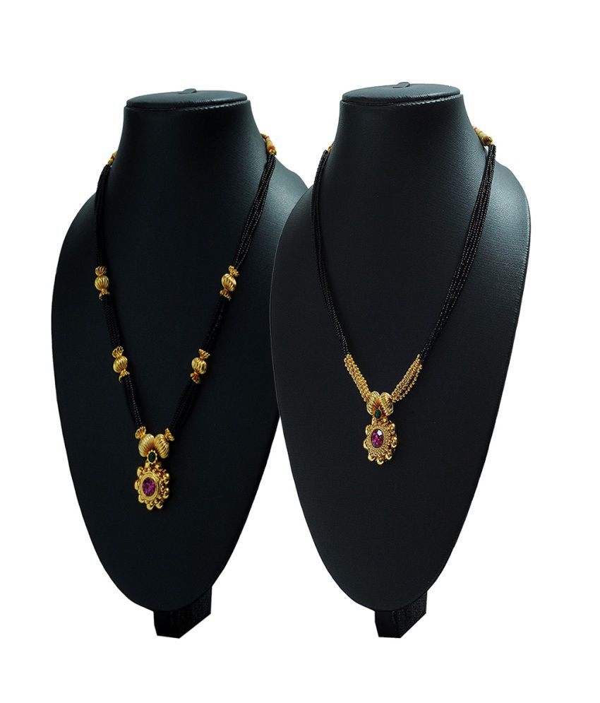Womens Trendz Golden Alloy Mangalsutra - Pack of 2
