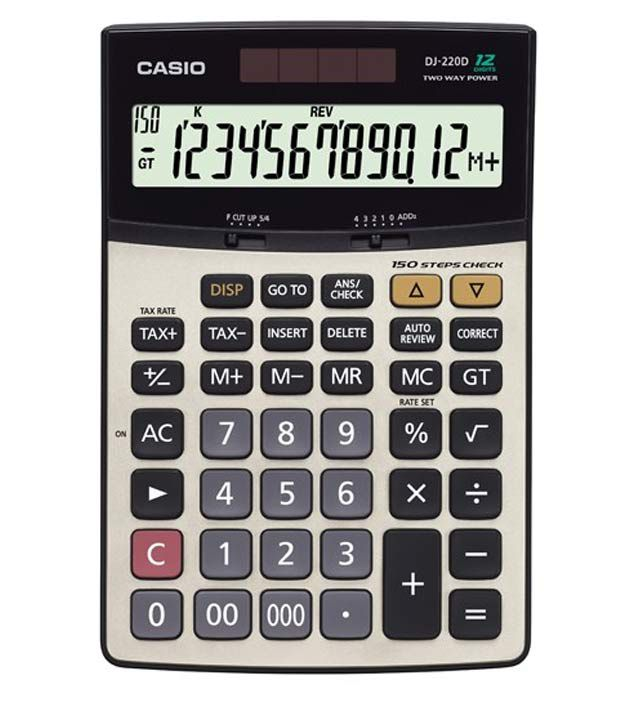 Casio Check Calculator DJ 220D Buy line at Best Price in India