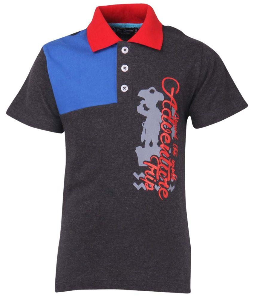 Cool Quotient Black Cotton Polo T-Shirt