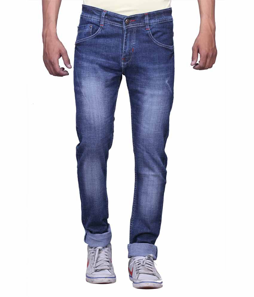 Falkon Fashion Blue Slim Fit Solid Jeans