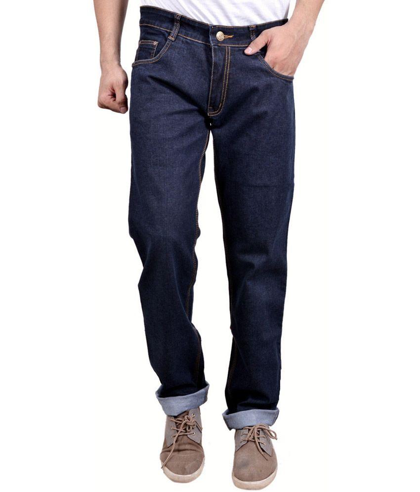 Falkon Fashion Blue Slim Fit Solid Jeans