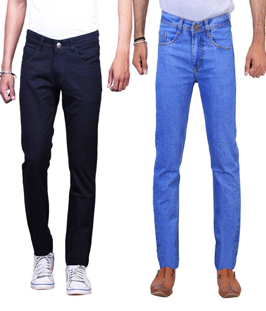 Ilbies Multi Slim Fit Basics Jeans Pack Of 2