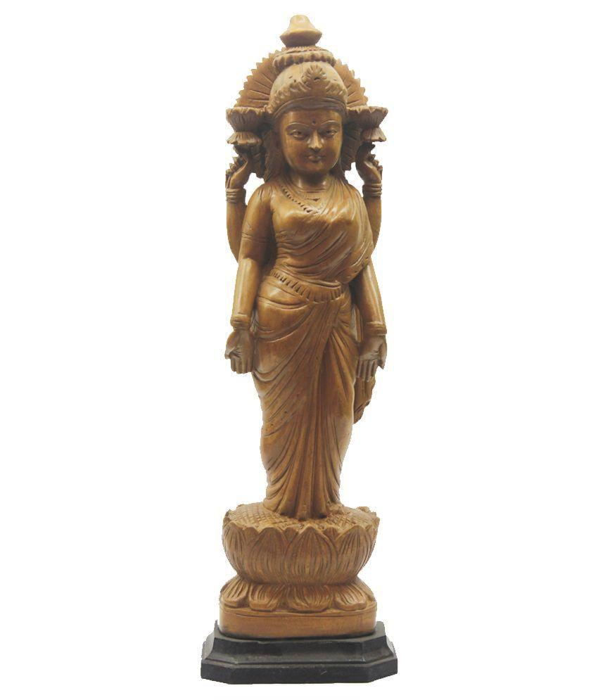 Indian Arts Museum Beige Cedar Laxmi Idol
