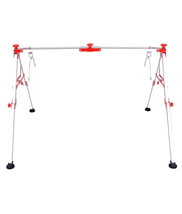 Cute Baby Red Stainless Steel Folding Baby Cradle