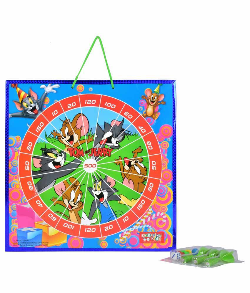 Kreative Kids Tom and Jerry Magnetic Dart Board with Snake and Ladders Game