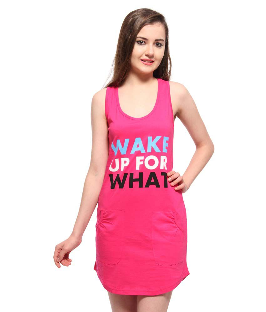 d430b92866 Buy Slumber Jill Pink Cotton Night Shirts Online at Best Prices in India -  Snapdeal