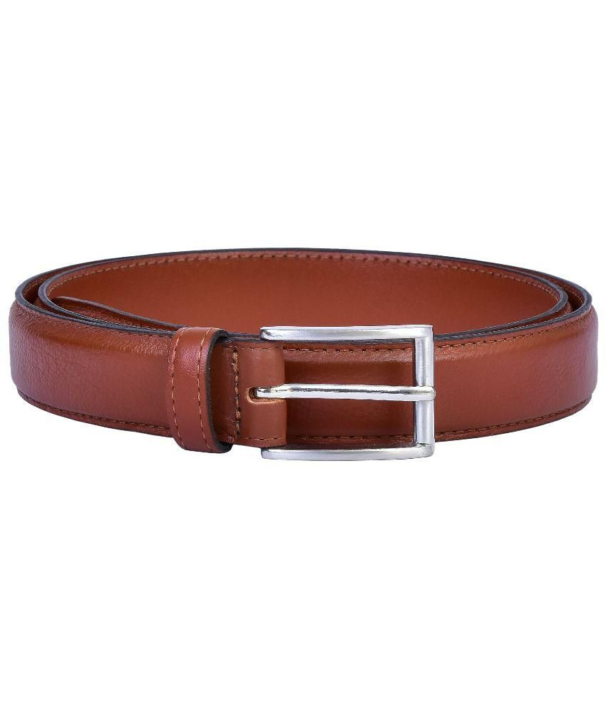 Lafaas Brown Leather Casual Belt for Men