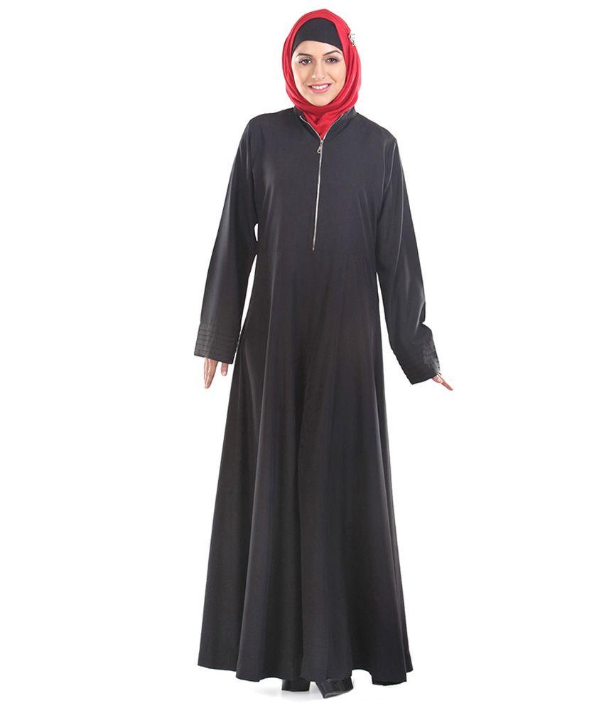 Momin Libas Black Kashibo Stitched  Abaya-Burqas without Hijab