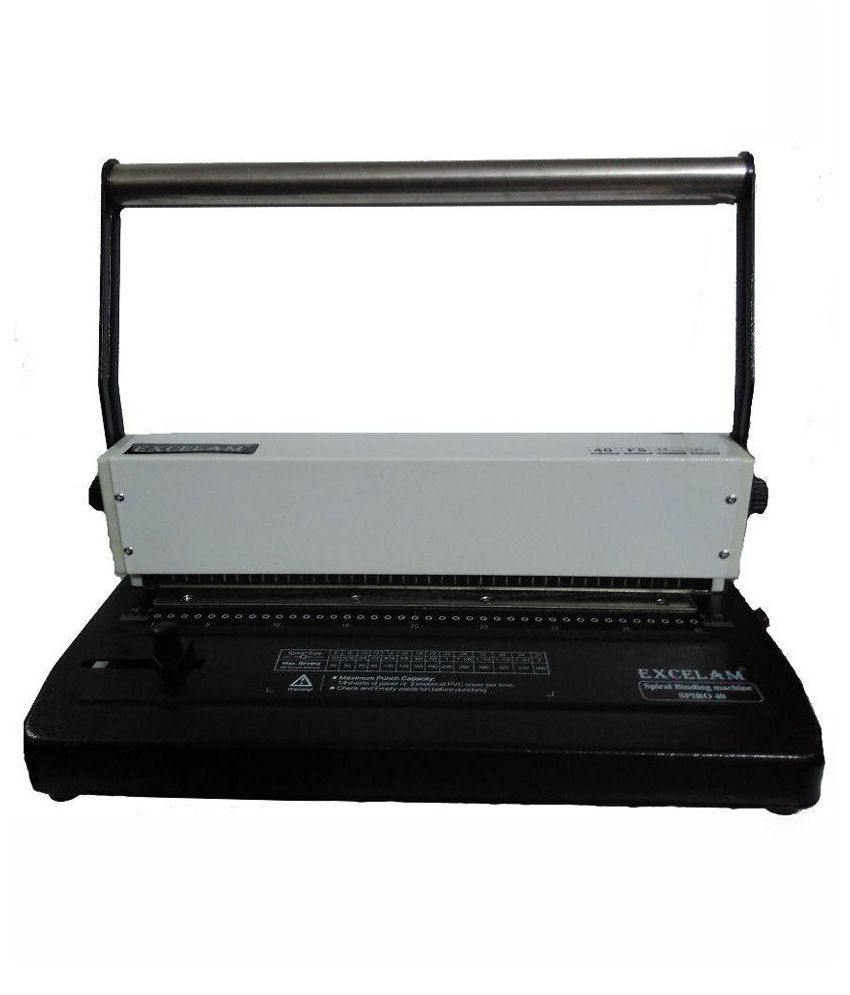 Excelam Spiral Binding Machine ( Manual )Model No. Spiro