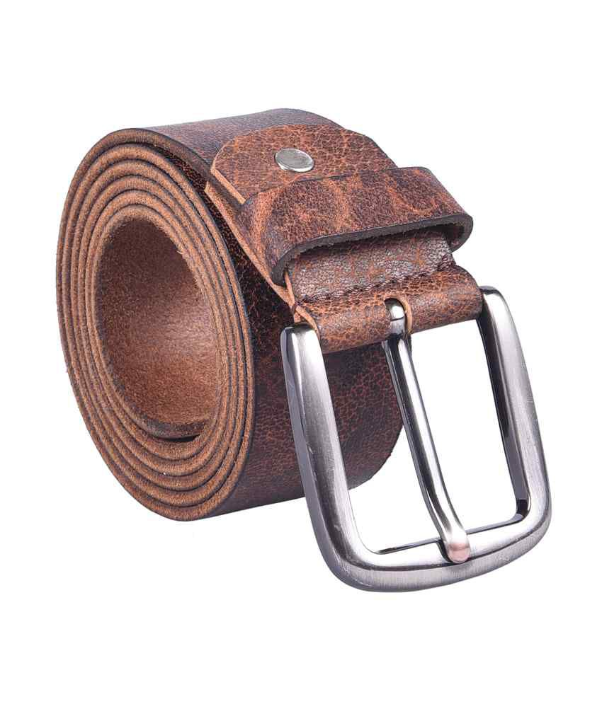 Star Traders Brown Leather Belt