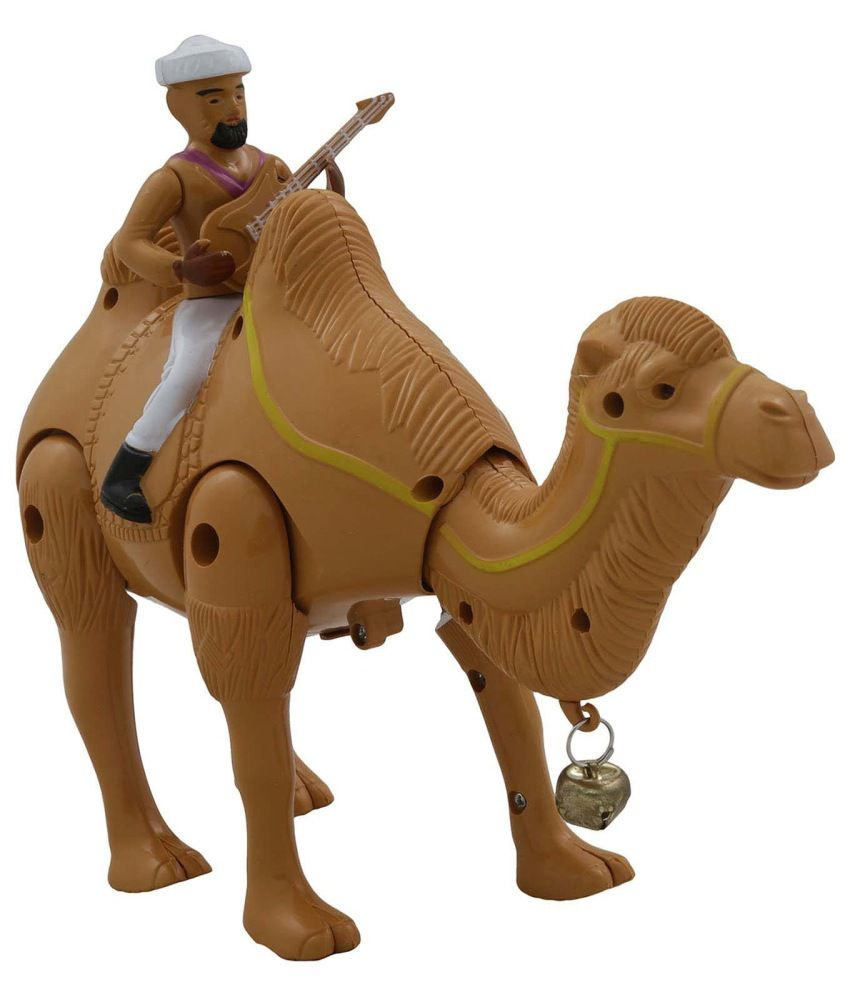 Adneo Brown Plastic Camel Toy