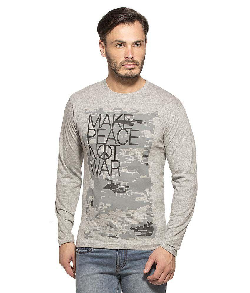 Alan Jones Clothing Grey Round T Shirt