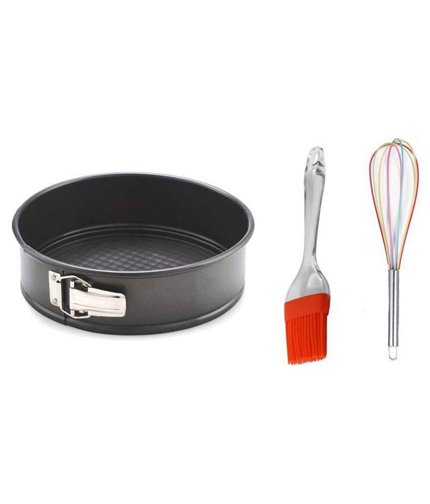Creativities International Combo of Cake Baking Pan , Brush and Whisker