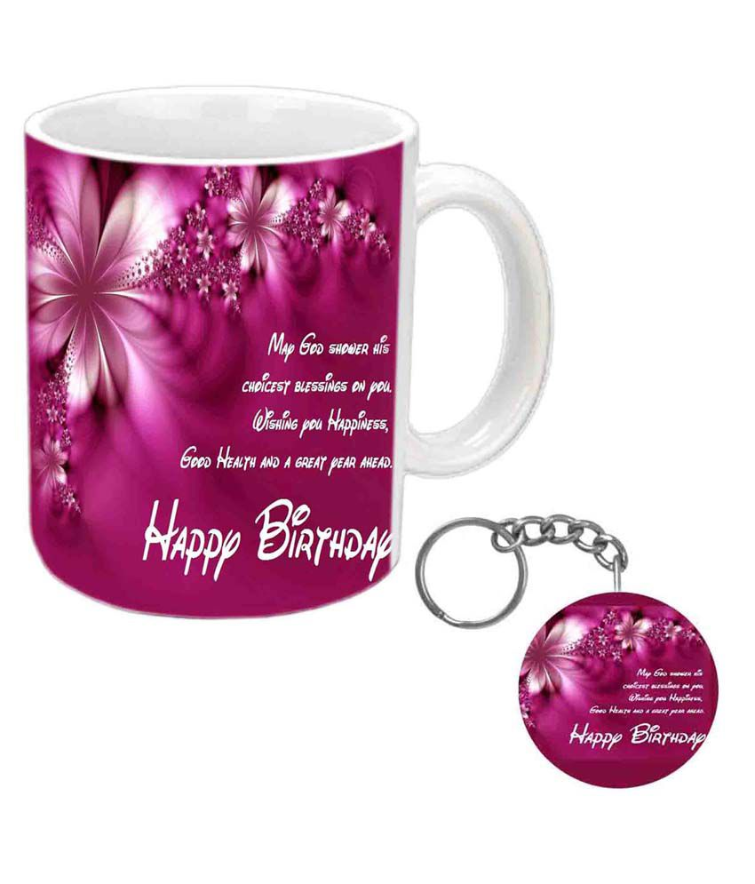 Jiya Creation Multicolor Nice Quote Birthday Wishes Ceramic Mug Buy Online At Best Price In India