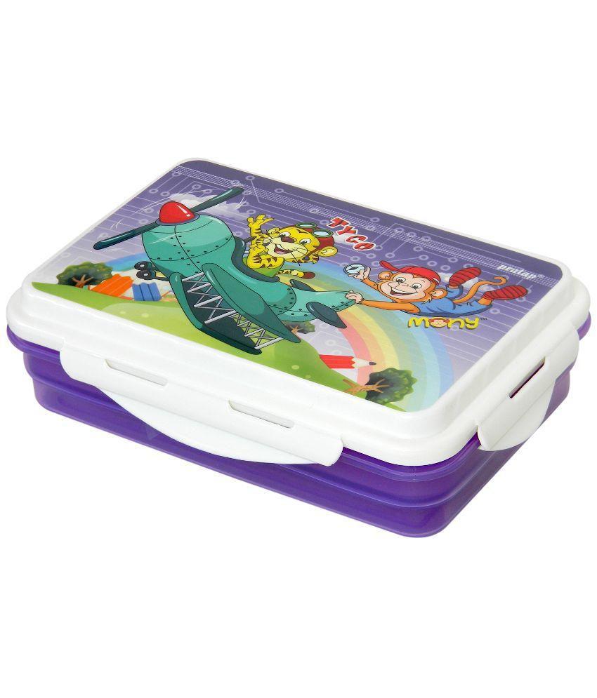 Pratap Purple  Executive Double Deckar Lunch Box
