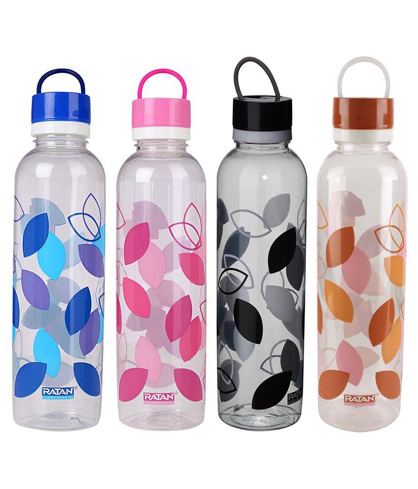 Ratan Plastics Multicolor 1000 ml Water Bottles