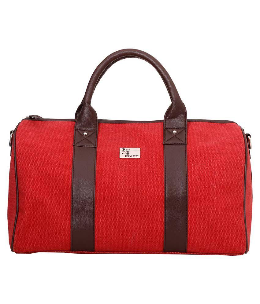 f297c6dda01 Rivet Red Canvas Duffle Bag - Buy Rivet Red Canvas Duffle Bag Online at Low  Price - Snapdeal