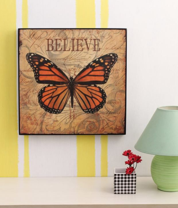 Artista Multicolour Animal Painting with Wooden Frame