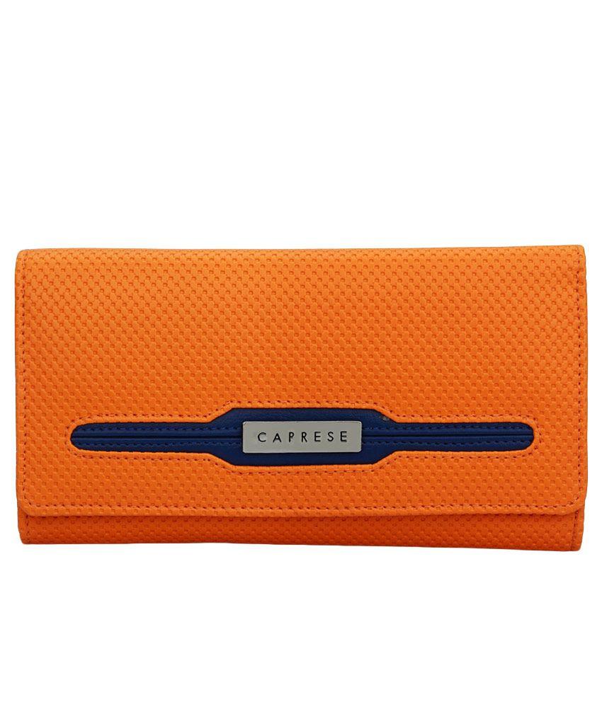 Caprese Angel Orange Regular Wallet