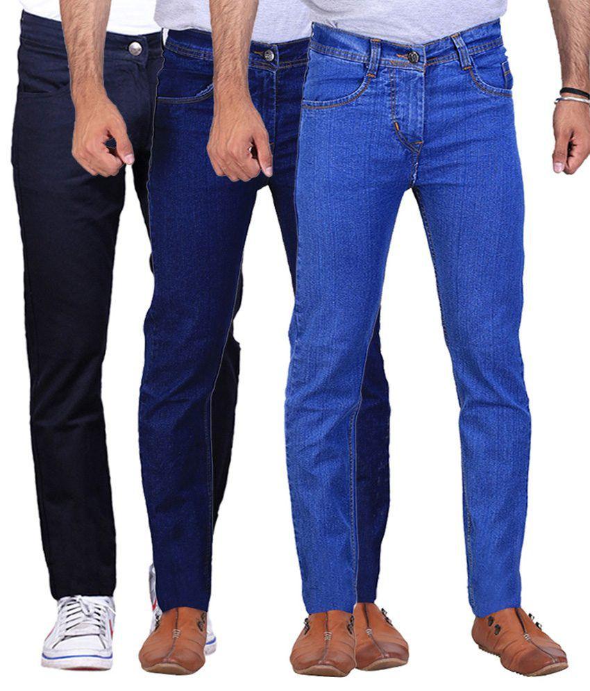 Ilbies Multi Slim Fit Solid Jeans Pack of 3