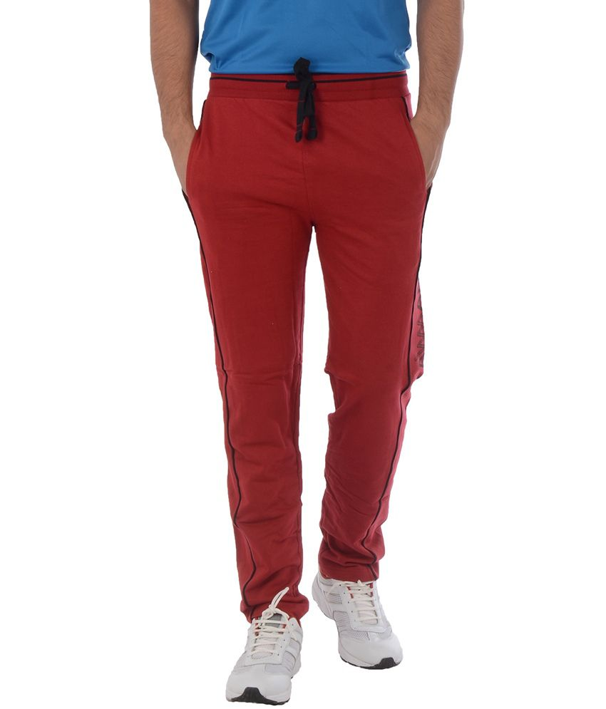 Lawman Maroon Trackpants