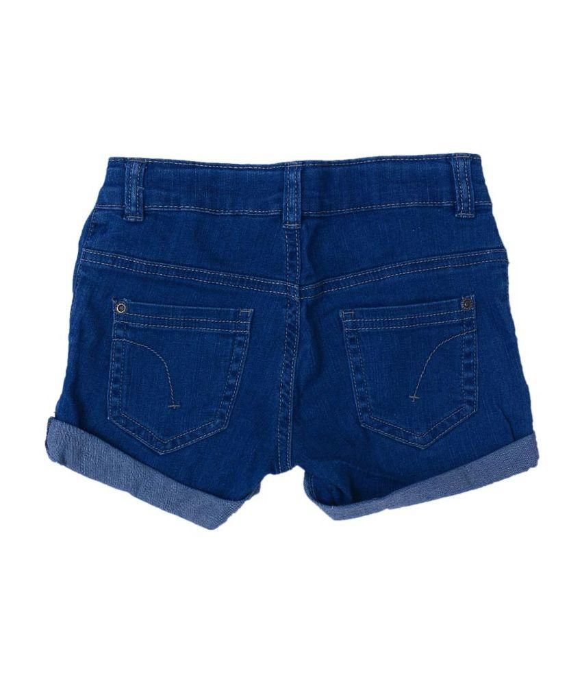Netra Blue Cotton Shorts