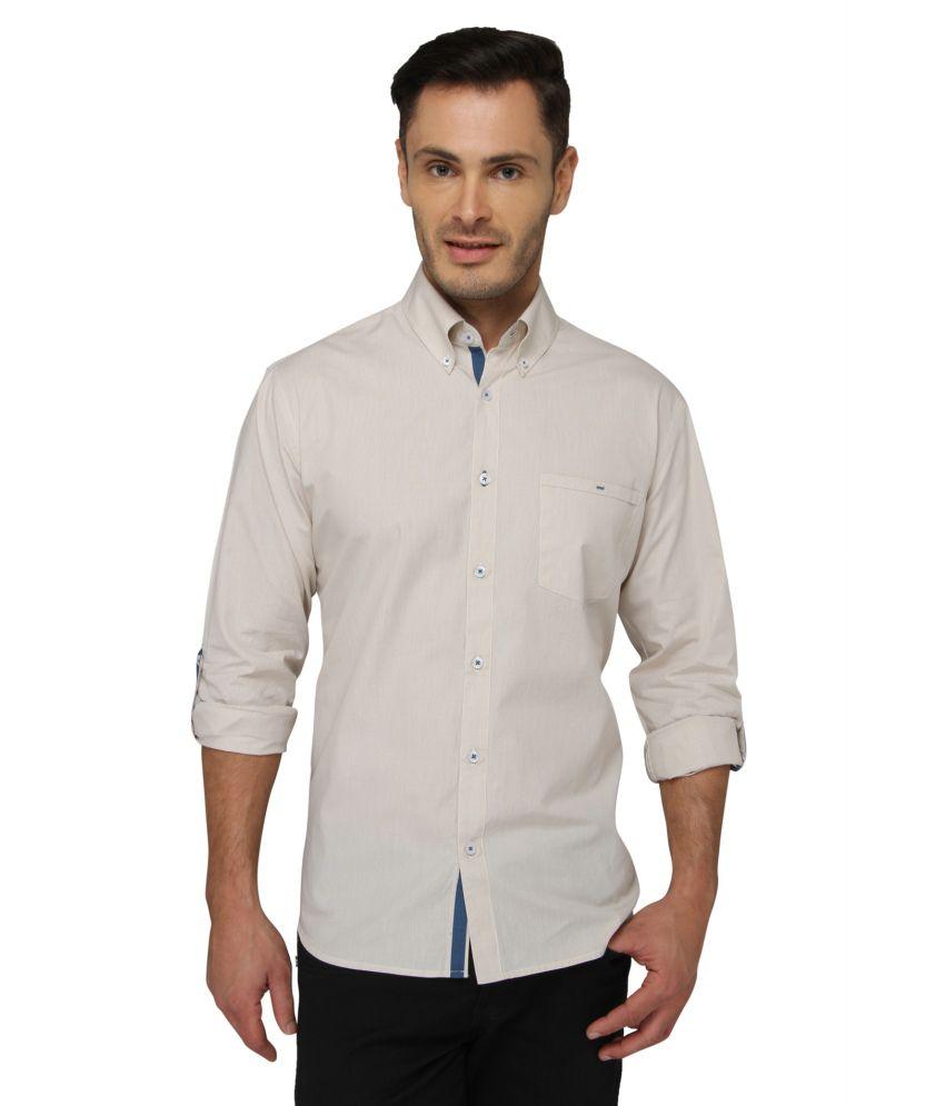 Bluvior White Casuals Slim Fit Shirt