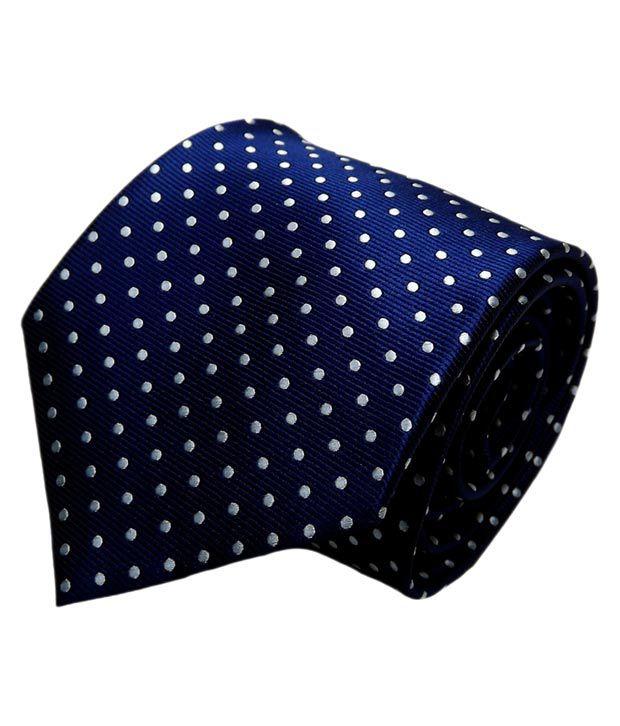 Mentiezi Blue Micro Fibre Broad Tie with Pocket Square for Men