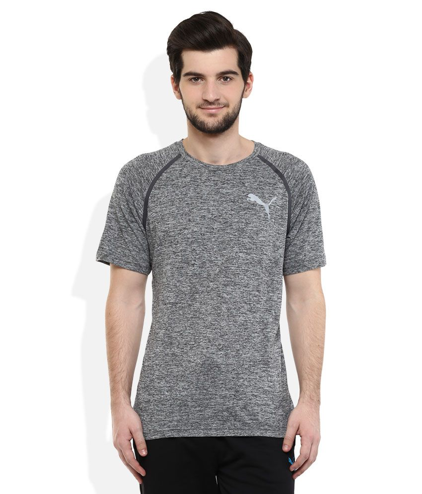 Puma Black Round neck T Shirt