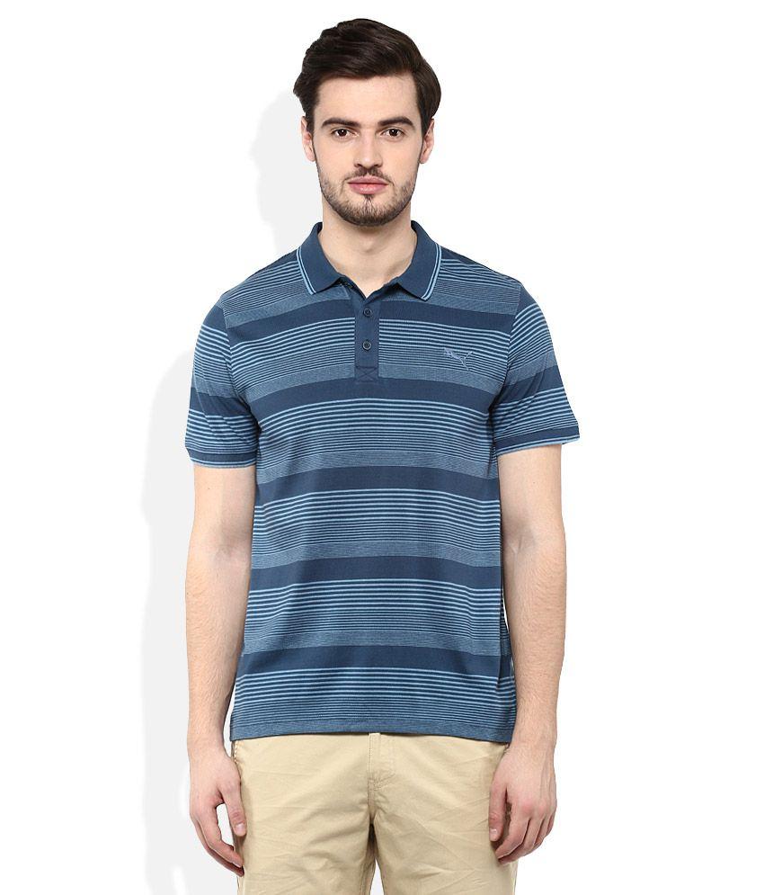 Puma Blue Polo Neck T Shirt