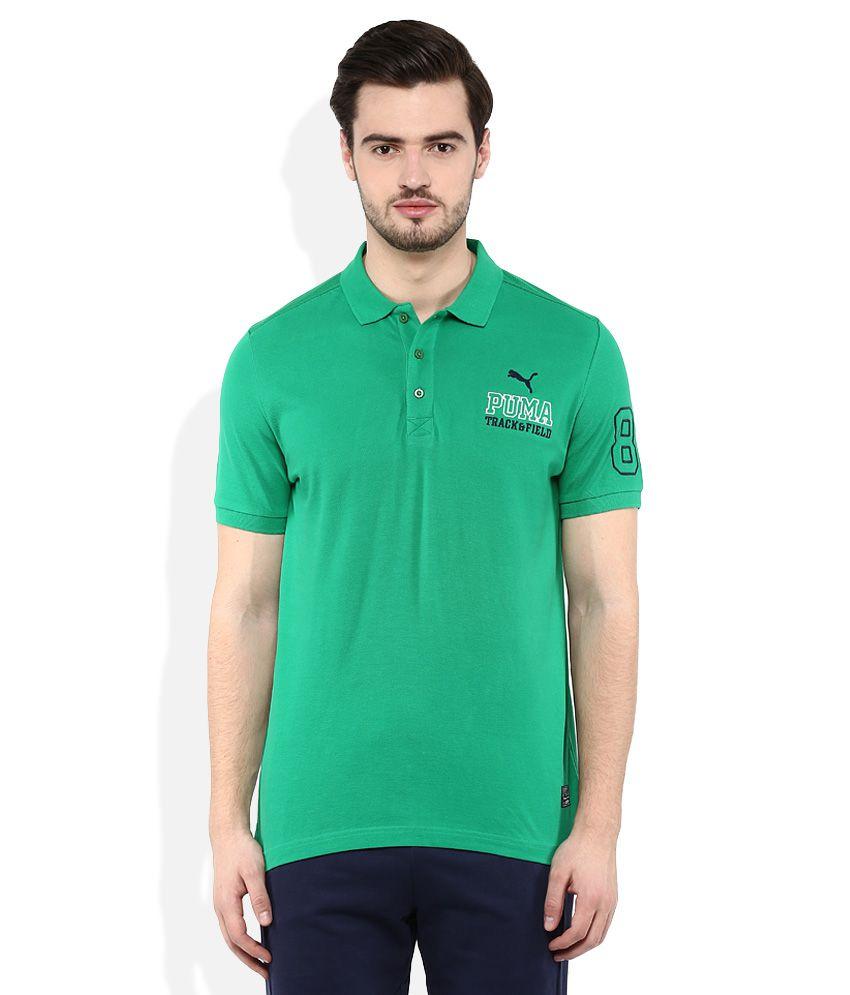 Puma Green Polo Neck T Shirt