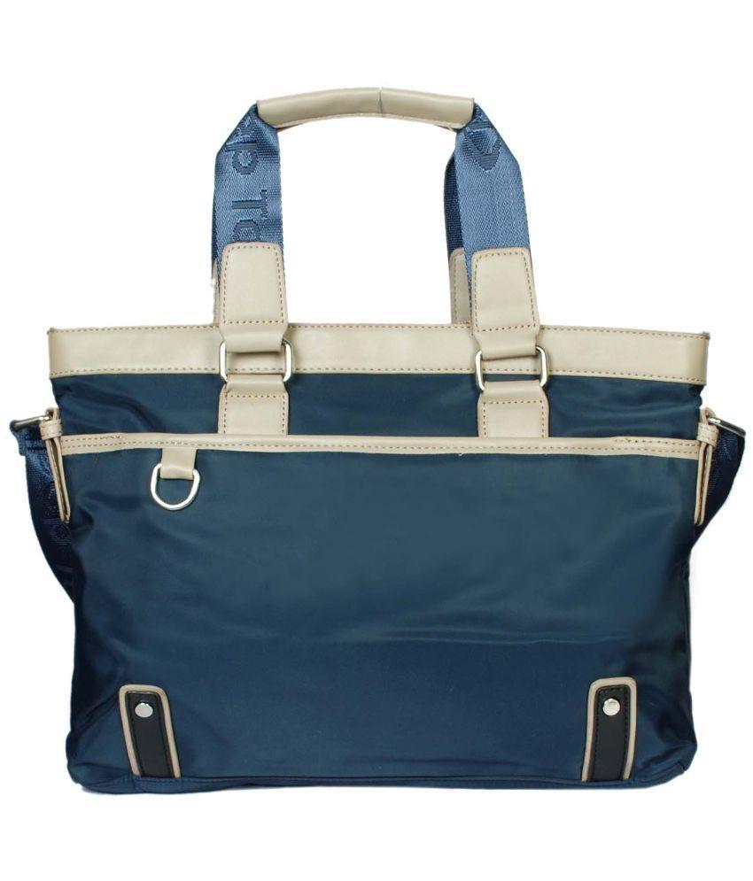 Raeen Plus Blue PU Messenger Bag