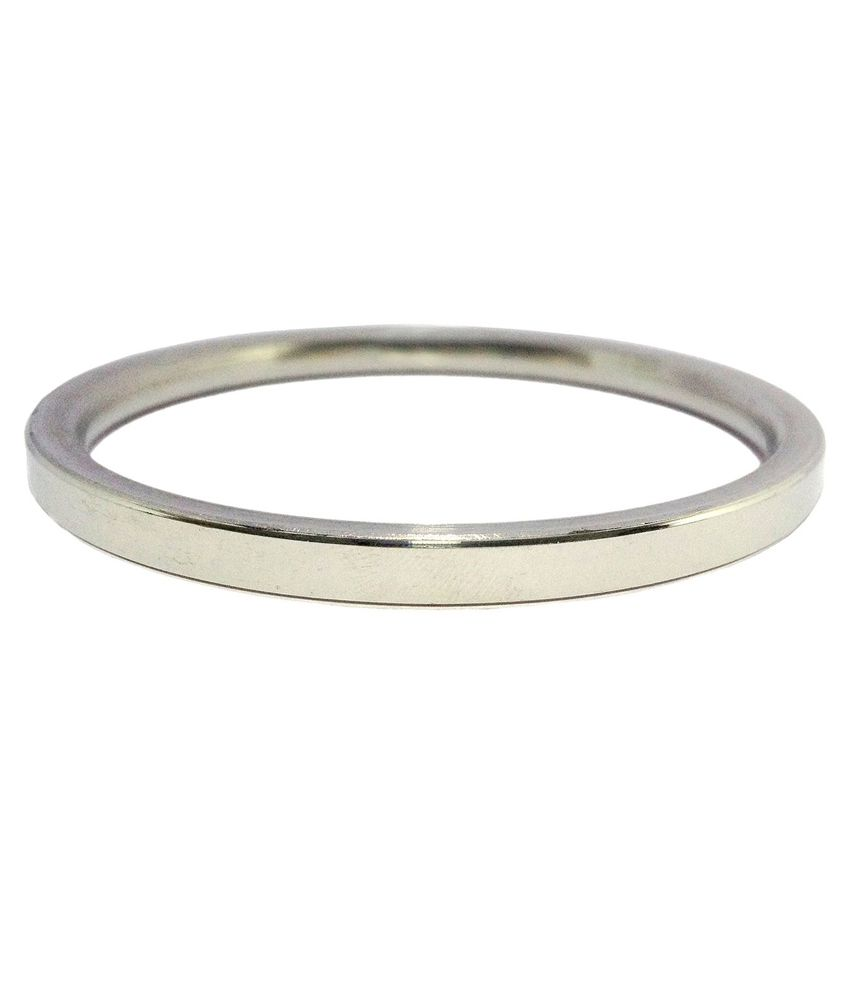 The Amritsar Store Silver Stainless Steel Kada ...