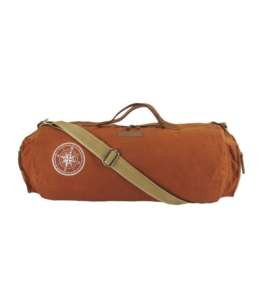 The House of Tara Waxed Canvas / (Rust) Gym Bag
