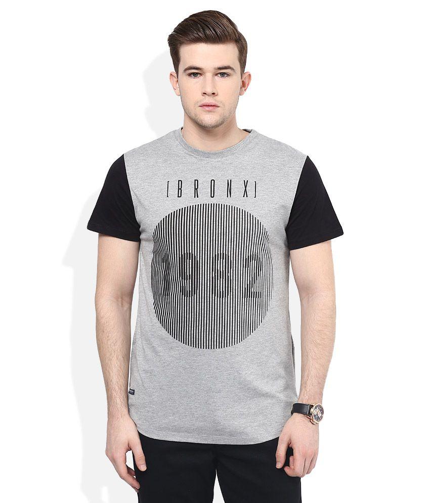Threadbare Grey Printed T-Shirt