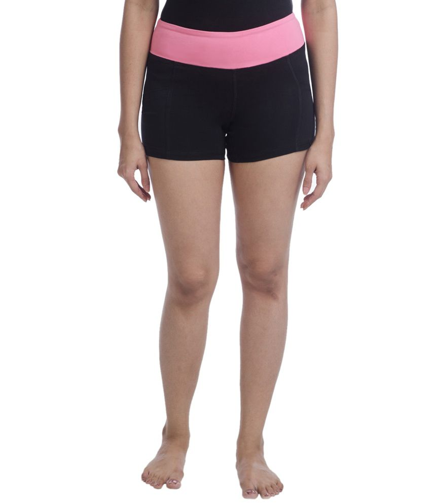 Nite Flite Pink Foldover Yoga Shorts