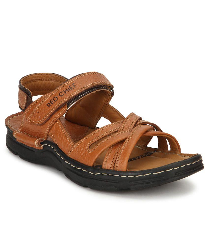 c9ca7c8f3 Red Chief Tan Sandals Price in India- Buy Red Chief Tan Sandals Online at  Snapdeal
