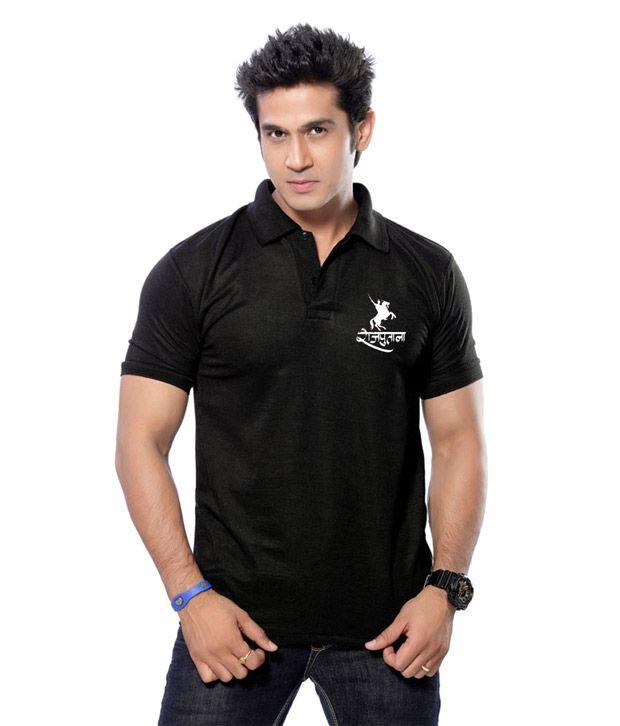 1c12c846d5f9 Rathore Logo Black Colour Mens Polo T-Shirt - Buy Rathore Logo Black Colour  Mens Polo T-Shirt Online at Low Price - Snapdeal.com