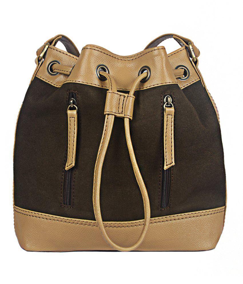 Bagsy Malone Beige P.U. Sling Bag
