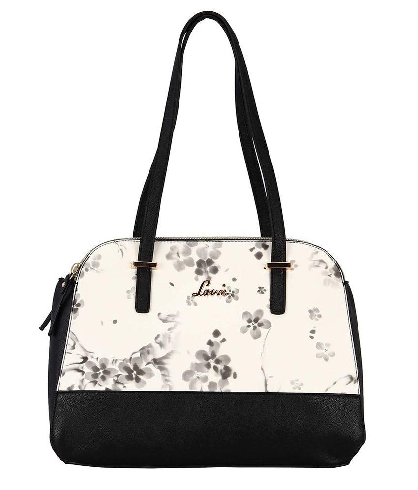 Lavie FLORA 3C MED DOME SATCHEL Black Handbag