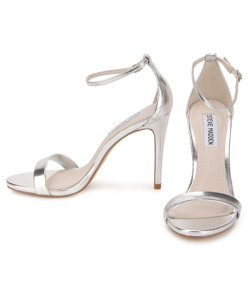 Steve Madden Stecy Silver Stiletto Heels Price in India- Buy Steve ...