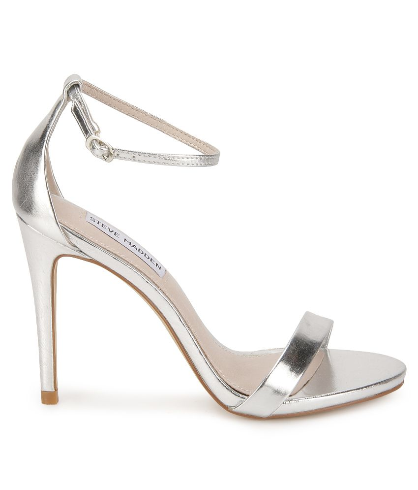 Steve Madden Stecy Silver Stiletto Heels Price in India- Buy Steve ...