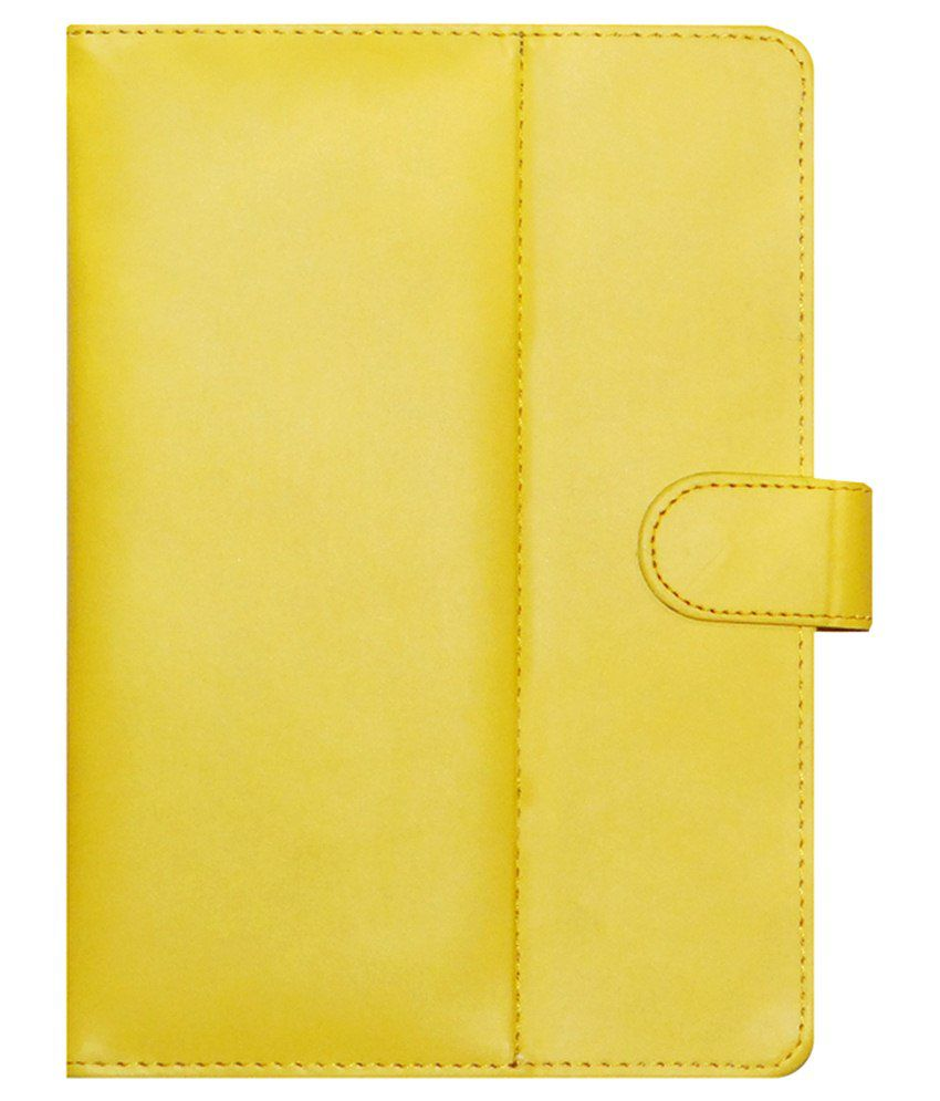 ACM Flip Cover For Iball Slide Avonte 7-Yellow