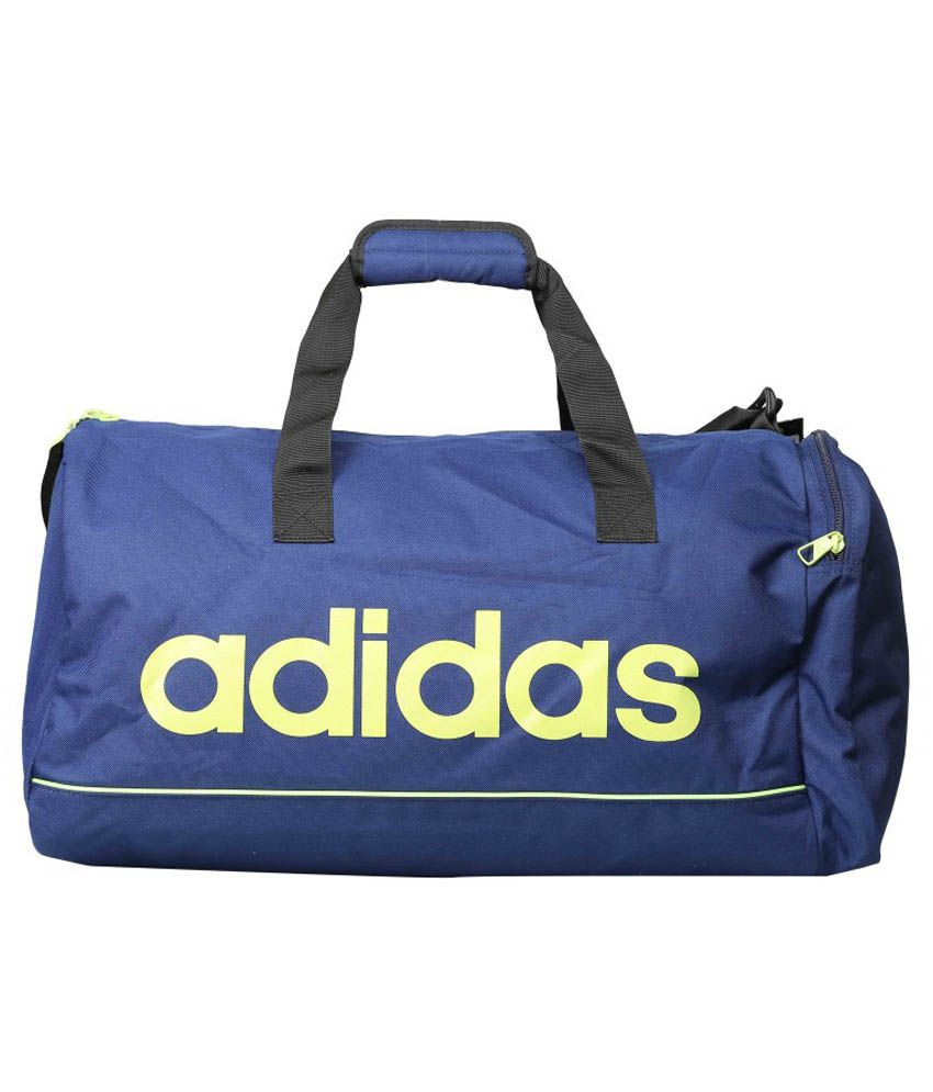 Adidas Blue Polyester Duffle Bag