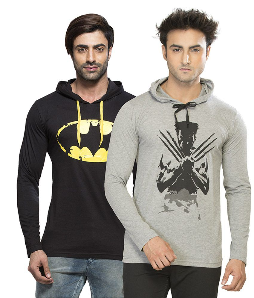 Alan Jones Clothing Multi Hooded T Shirts Set Of 2