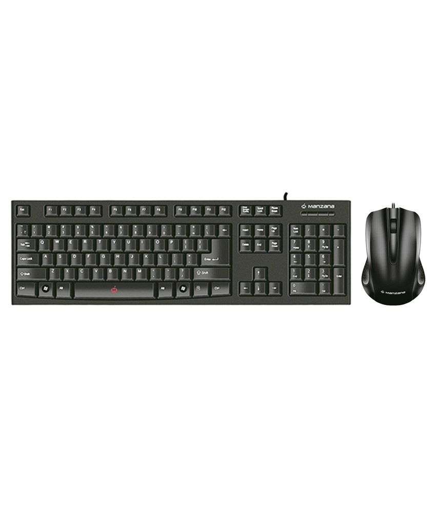Manzana M_KPSKSM Black USB Wired Desktop Keyboard
