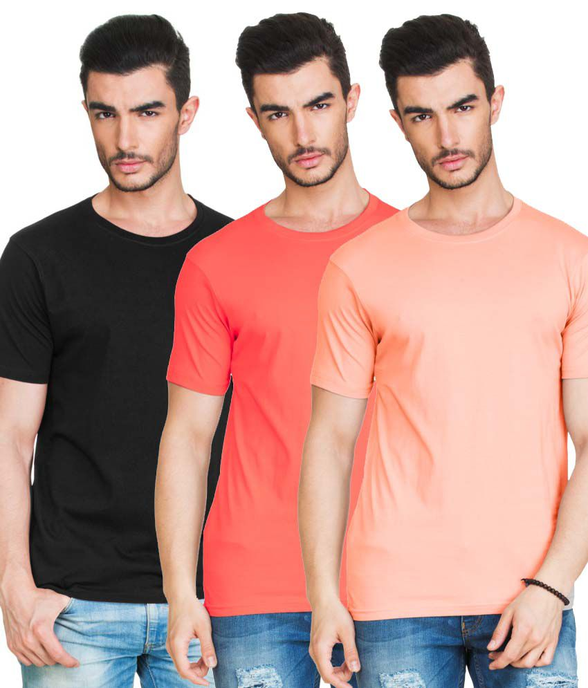 Zovi Multi Round T Shirts Pack of 3